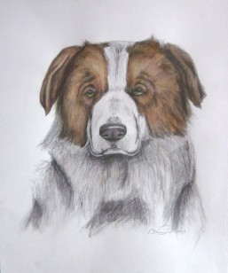 "Murphy, 2012, Watercolor on paper, 14""x17"". Copyright Rebe Banasiak, The Brush Hilt and Banasiak Art Gallery."