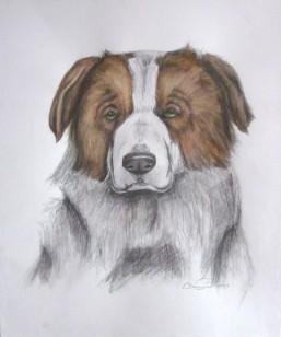 "Murphy, 2012, Watercolor on paper, 14""x17"". Copyright Rebe Banasiak, The Brush Hilt and Banasiak Art Gallery."
