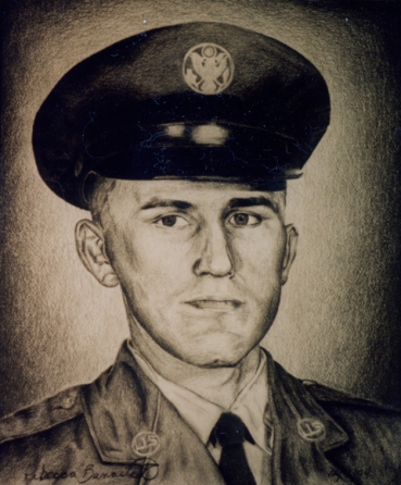 Portrait of my dad in his Air Force uniform. Graphite on paper, 1994.