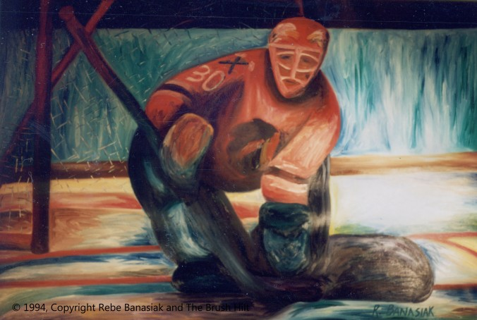 Eddie the eagle Belfour, 1994, oil on canvas, 4'x6'.