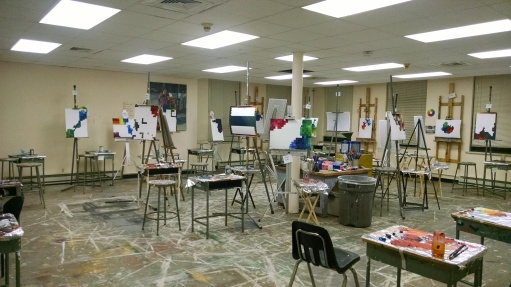Painting room at Lewis.