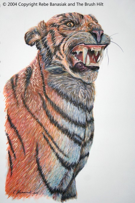 Tiger, 2004, watercolor on paper.