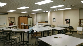 Drawing and illustration classroom. The place where I spent half of my time while at Lewis.